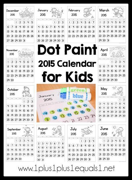 Dot Fun 2015 Calendar for Kids