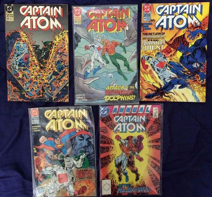 SOLD - Captain Atom 39, 53-55, Annual 1 (1990) #DCComics  FREE POST Worldwide #Justiceleague #Superman #Aquaman