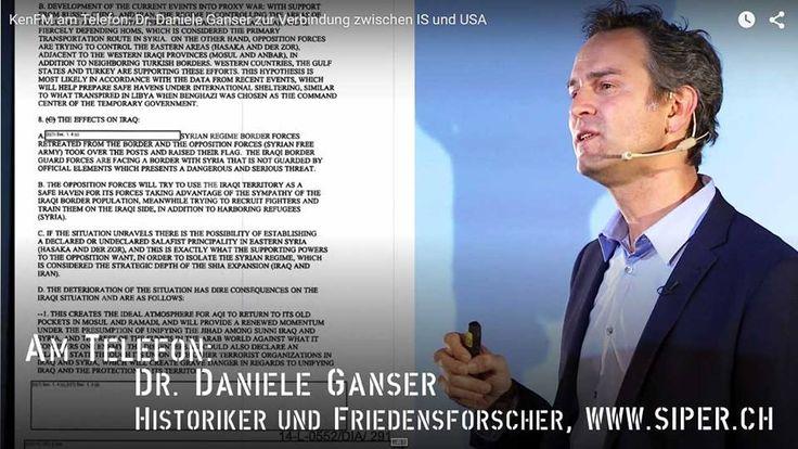 #geopolitik US #terror #natojunta #isis  KenFM am Telefon: Dr. Daniele Ganser zur Verbindung zwischen IS und USA Auftragsmord mit Steuergeldern.                   https://youtu.be/L0sMYAIcgo4  Seit Mitte Mai 2015 ist es offiziell. Die USA haben den IS, den Islamischen Staat, mit all seiner Brutalität unterstützt. Das beweist ein siebenseitiges Regierungsdokument, das auf Druck von Judicial Watch veröffentlicht werden musste, wenn auch in großen Teilen zensiert.  Fakt ist: Die Regierung Obama…
