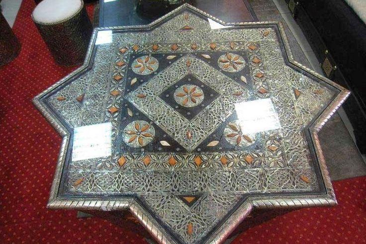Table de salon marocain en 2015  Salon marocain  Pinterest  Tables, Salon  # Table Salon Marocain