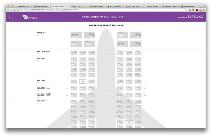 Virgin America - Seat Selection