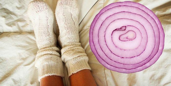 Waarom het slapen met uien in je sokken zo goed voor je is