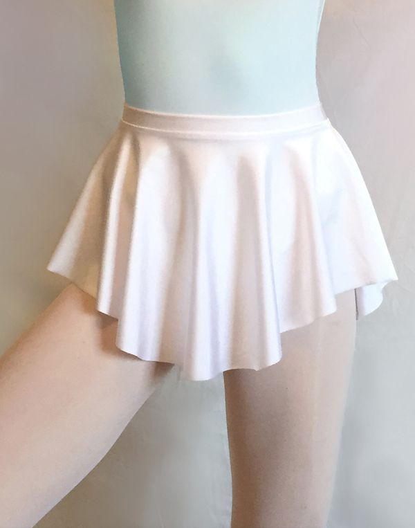 Ballet skirt by Royall Dancewear- SAB skirt- classic white lycra spandex