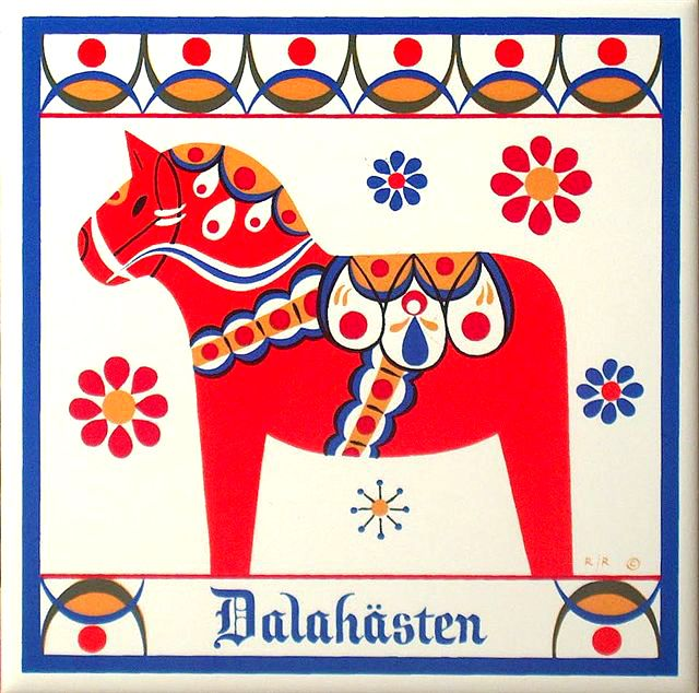 Swedish Dala horse - sweet