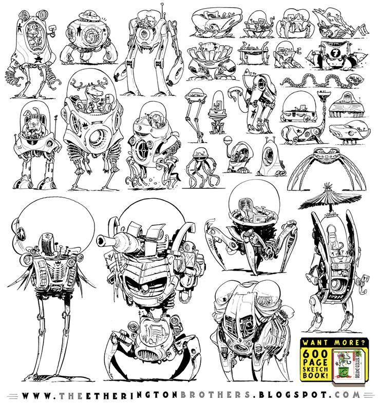 31 Robot Walker Concepts by STUDIOBLINKTWICE