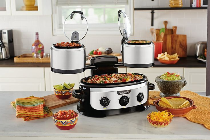 Swing and Serve Crock-Pot: Cook and Serve 3 Different Foods with One Appliance