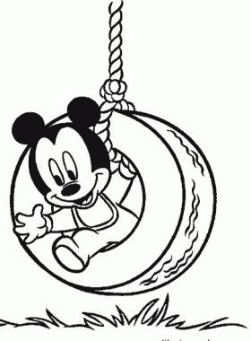 pics photos back print baby mickey birds 11 coloring page - Disney Baby Mickey Coloring Pages