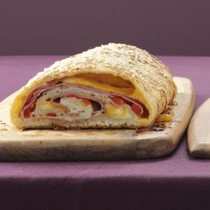 Spiral Stromboli Recipe from Taste of Home -- shared by Jean Gruenert of Burlington, Wisconsin  #quick_dinner