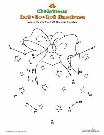Worksheets: Christmas Dot-to-Dot 3