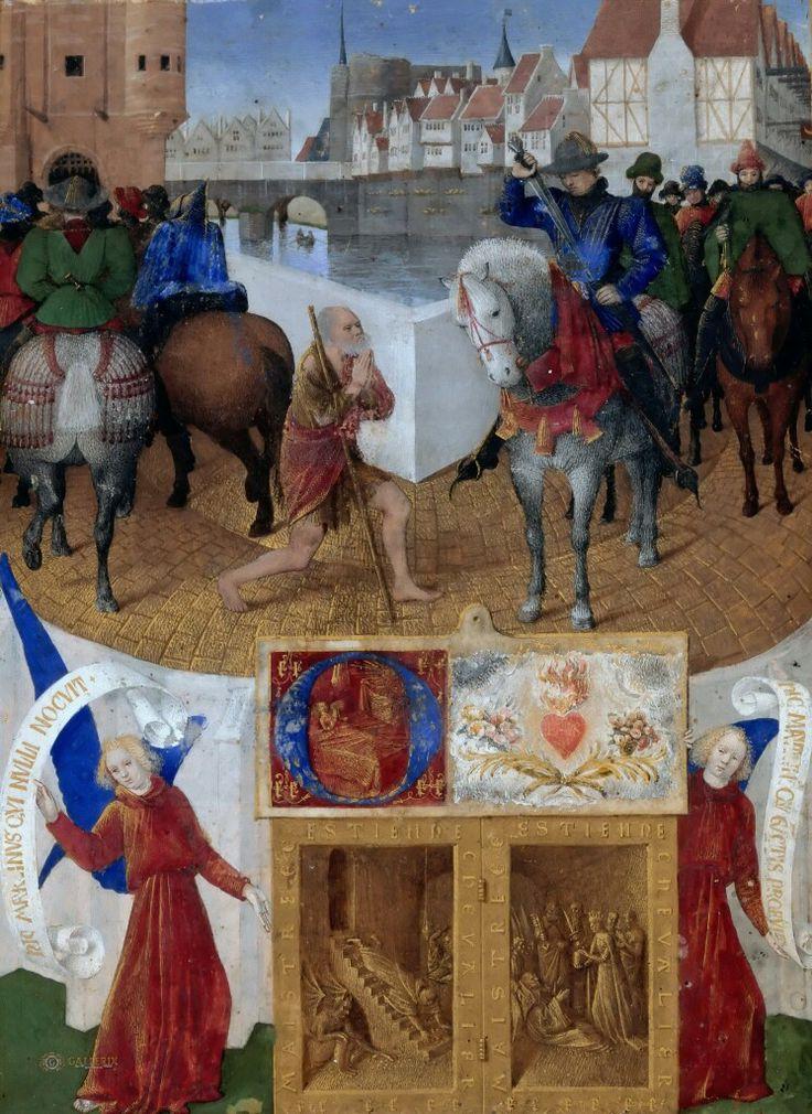 часть 1 Лувр: Фуке, Жан (Тур ок1420 - ок1480) -- Святой Мартин делится плащем с нищим