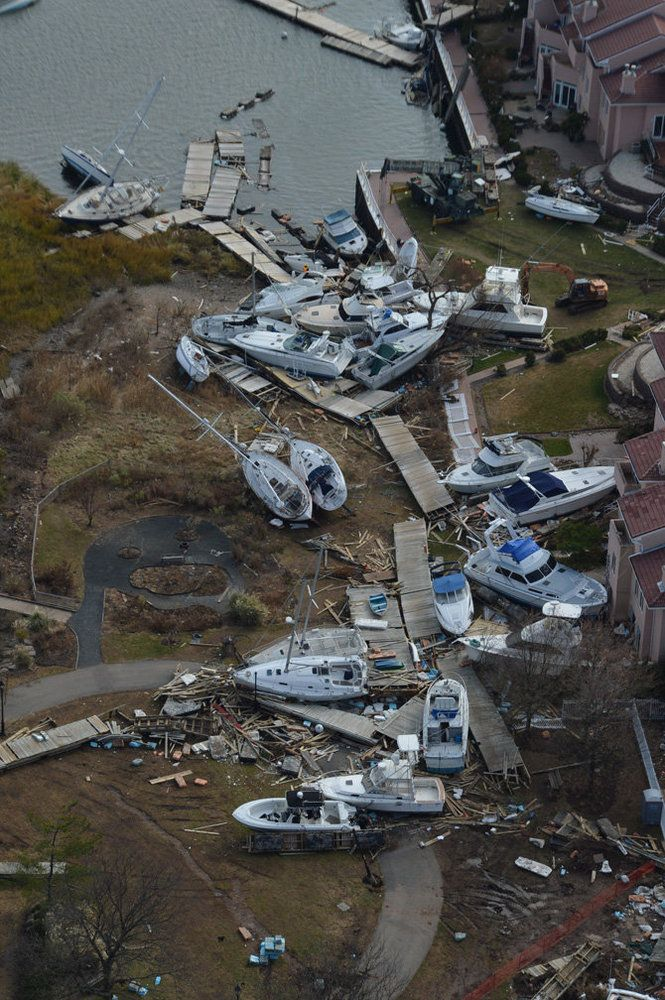 Hurricane Sandy aerial photos: Staten Island's Great Kills ...