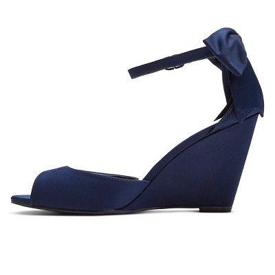 Women's Hadia Wedge Dress Sandals Tevolio - Navy (Blue) 7.5