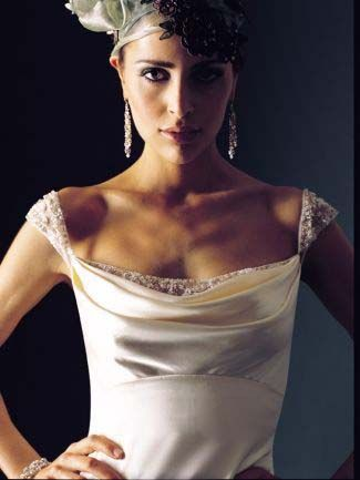 248 best images about bridal fashion on pinterest for Cowl neck wedding dress pattern