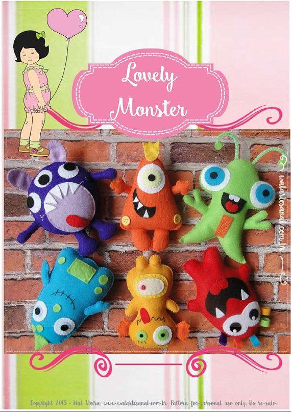 Lovely Monsters PDF Pattern por walartesanal en Etsy