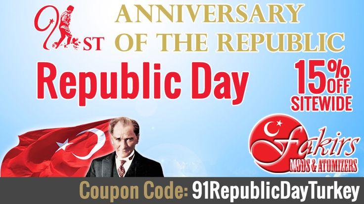 Republic Day October 29. For 91st anniversary of our Republic of Turkey.   Happy Republic Day October 29  #MustafaKemalAtaturk #RepublicDay #RepublicDayOfTurkey #October29RepublicDay #discounts #discountcode #discount #vape #vapeon #highendmodsonly #vapelyfe #vapefam #vapearazzi #instavape #nwvapers #calivapers #eastcoastvapers #westcoastvapers #vapersuite #vapesirens #vapesiren #vapestagram #vapecommunity  #mods #vaporizer #vapeporn #vaporporn #vaporlife #vapelife #vapelove