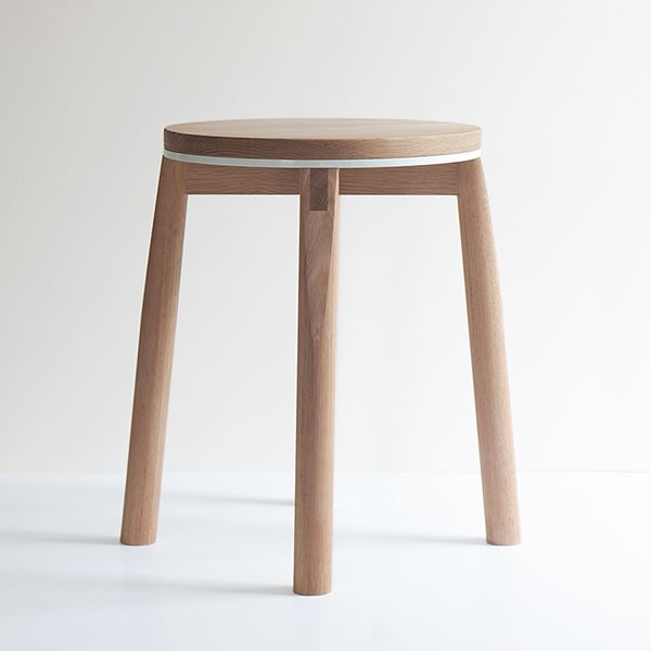 The Crop Stool is hand made from a blend of solid American and Tasmanian Oaks, sandwiched with powder coated aluminium accent. A design feature of the stool is the signature 'crop' which slices an angle through the top of each leg exposing the end grain a…