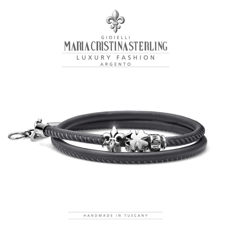 maria_cristina_sterling BRACCIALE LUCKYOU UOMO QUADRIFOGLIO ARGENTO €.65