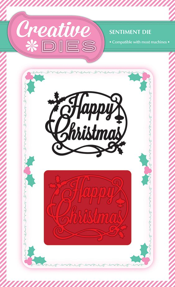 Papercraft Essentials Magazine 111 comes with a fantastic FREE Happy Christmas die