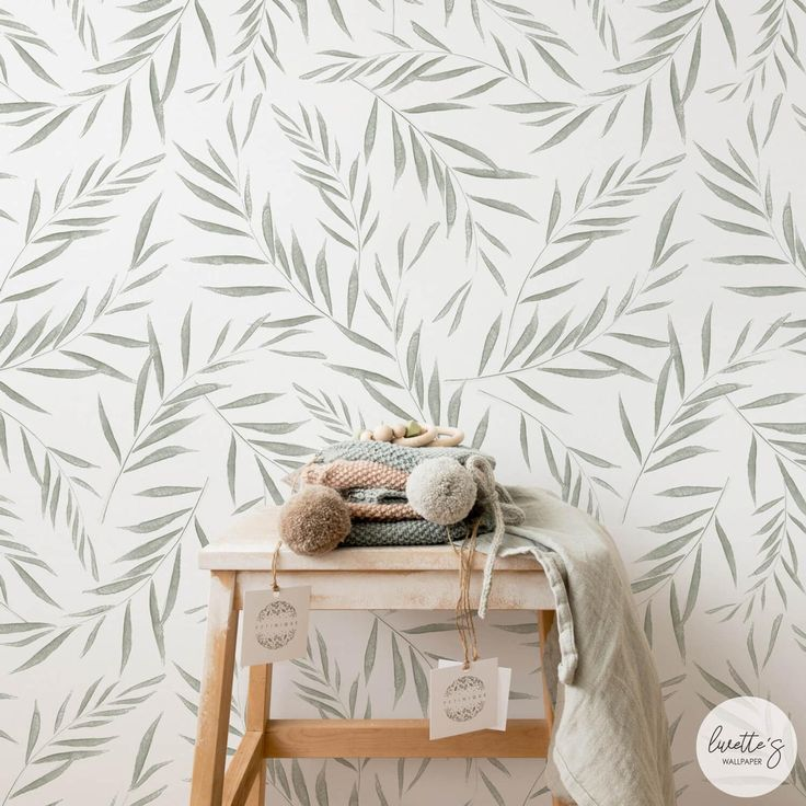 Best Fern Leaves Nursery Removable Wallpaper Minimal Design 400 x 300