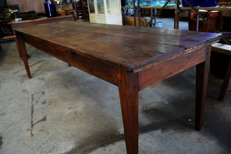 1800's French Farm Table Vintage Industries