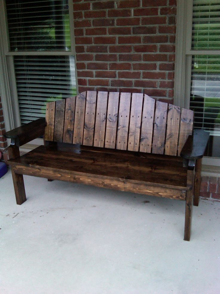Front porch bench porch benches pinterest my mom for Outdoor furniture for small front porch