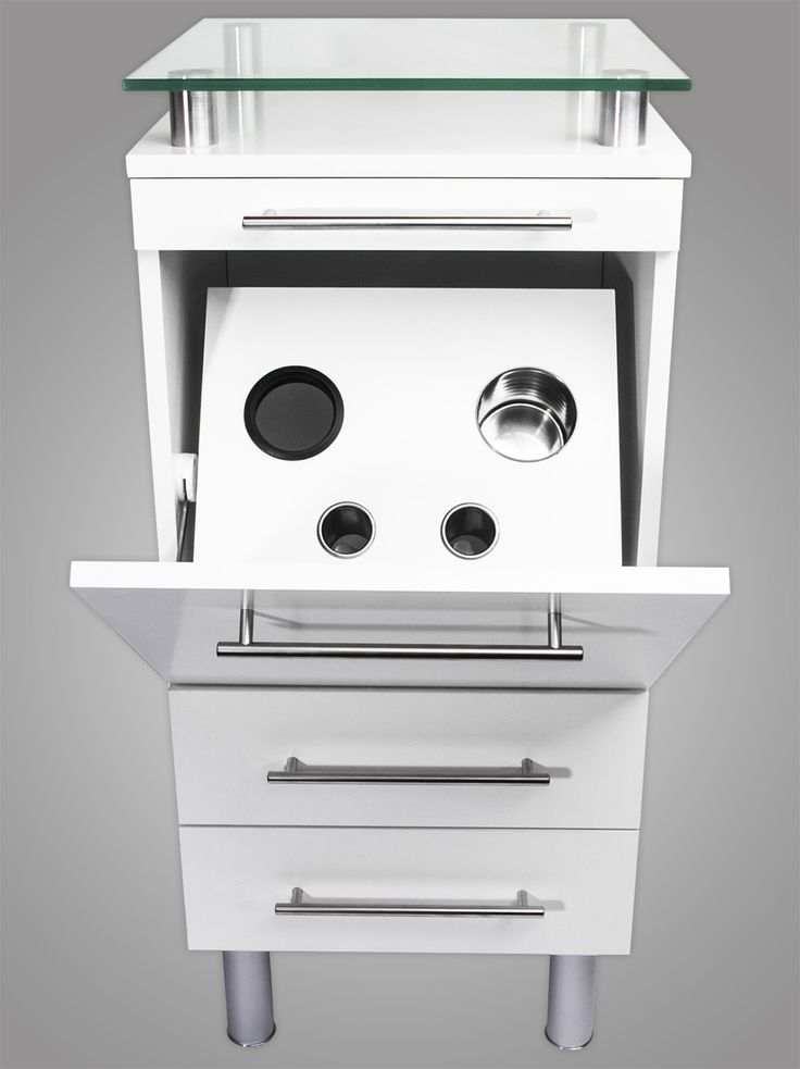 Amy Salon Styling Station White with Tilt-Out Tool Drawer alternative product image 1