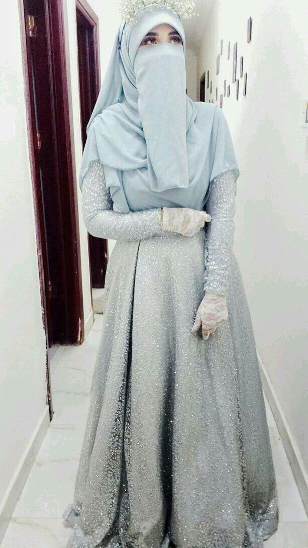 Pin By Emy Solom On Niqap منتقبات Soiree Dress Muslim Fashion Dress Lace Wedding Dress With Sleeves