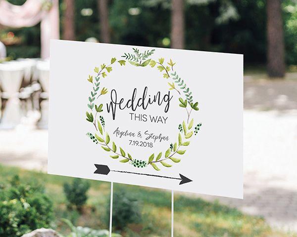 Rustic Wedding Sign - Botanical Sign - Rustic Wedding Decorations - UniqueRustic WeddingInvitations.com #rusticweddinginspiration