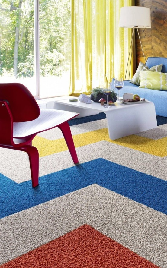 Bright Colors Interiors Carpet Tiles Chevron Carpet Rugs