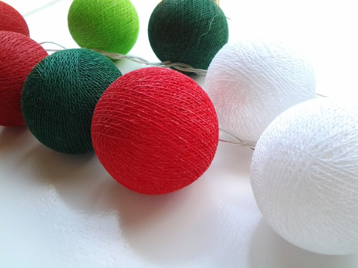 Spicy Red, White, Apple and Hunters Green - cute take on Christmas Light decorations