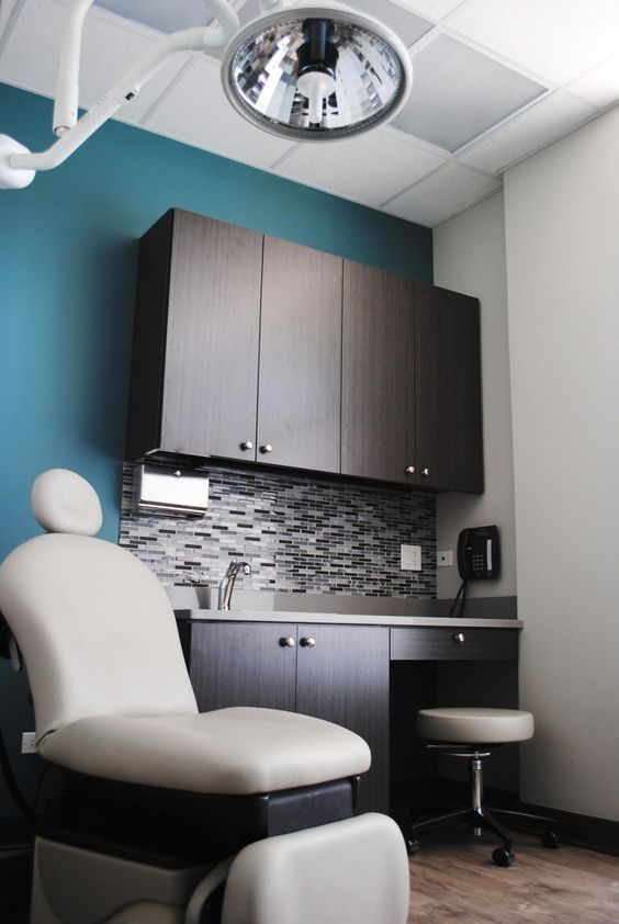 Love the color scheme. Village Dermatology With grey washed wood and a dusty cool color ...
