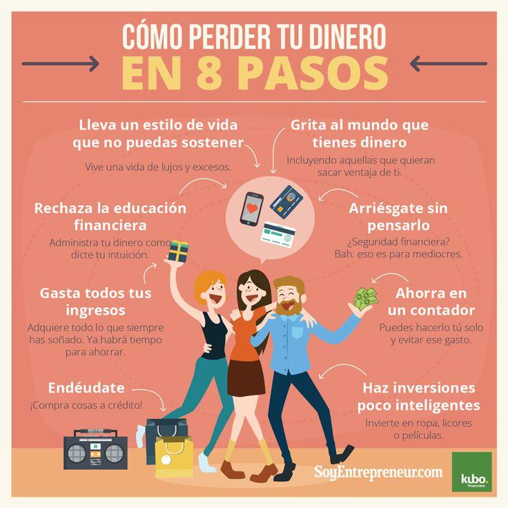 Infografía: cómo perder tu dinero en 8 pasos