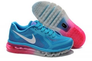 new arrival 28a8d 7171b com cheap nike shoes Womens Nike Air Max 2014 Blue Pink White Shoes