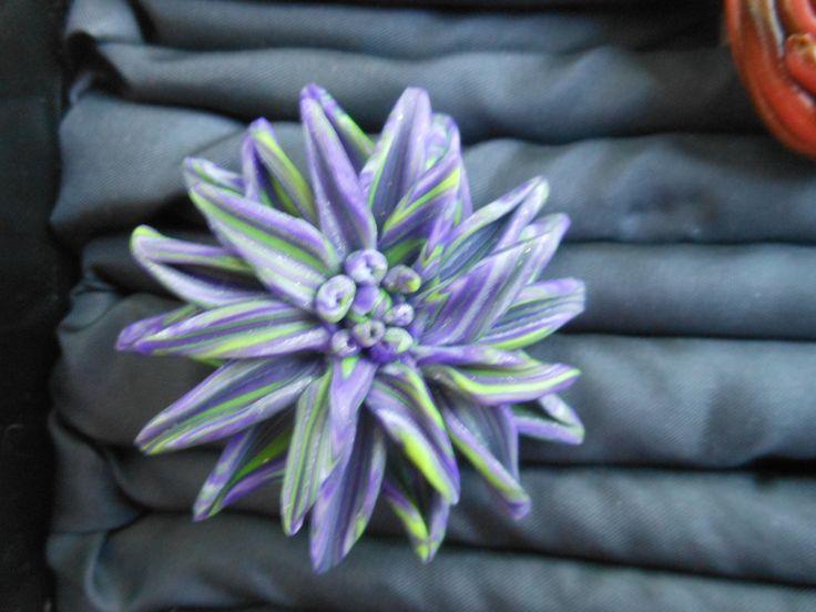 polymer clay pin / καρφίτσα  πολυμερικός πηλός  μέταλο