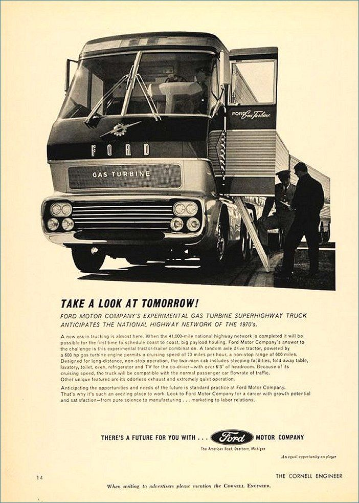 Ford Turbine Truck 1964 Concepts Prototypes