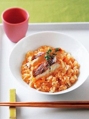 【ELLE a table】鯛とにんじんのピラフレシピ|エル・オンライン