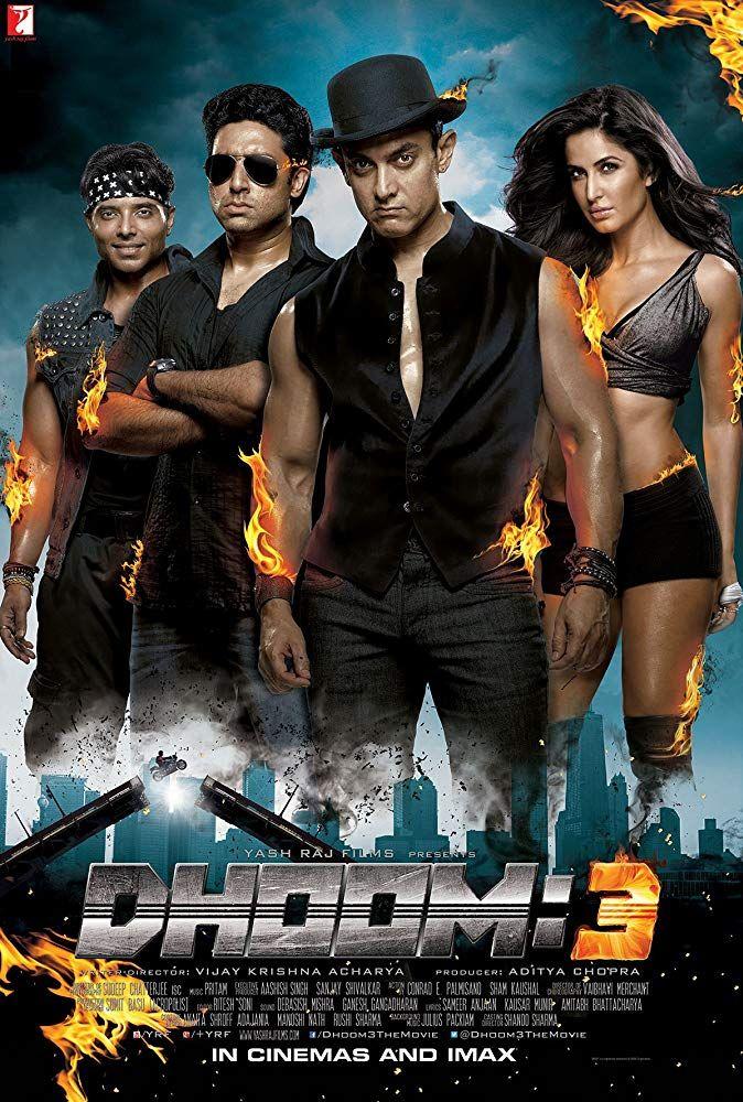 Abhishek Bachchan Uday Chopra Aamir Khan And Katrina Kaif In Dhoom 3 2013 Dhoom 3 Bollywood Movie Bollywood Movies