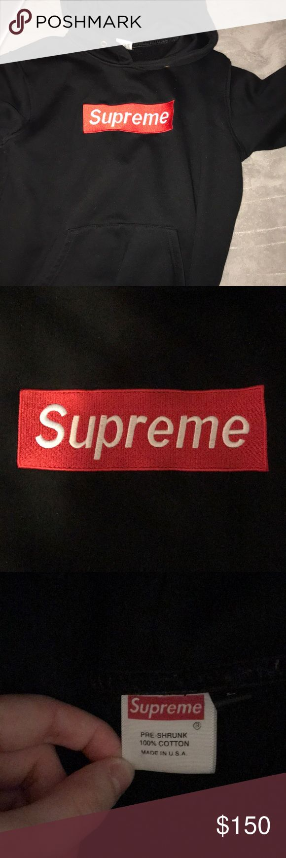 real SUPREME hoodie nwot worn a couple times taken care of fits like a small/medium Supreme Tops Sweatshirts & Hoodies