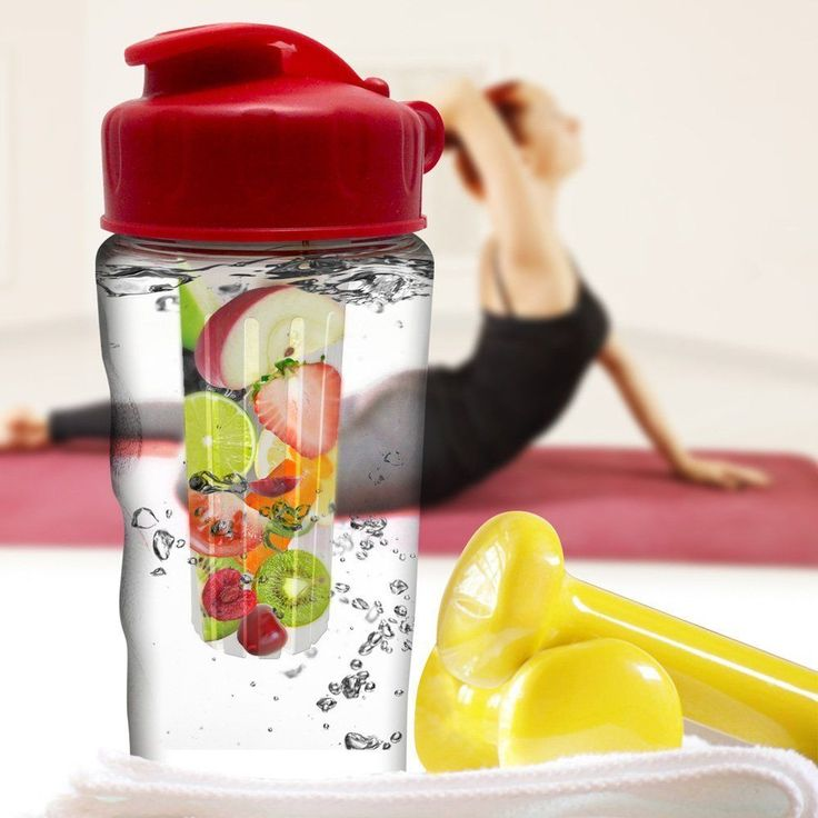 Infuser Water Bottle 2 Pack - Flavorful Gym Outdoor Camping Climb Fruit Perfect