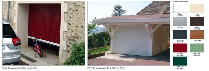 Porte de garage enroulable motorisée, sur mesure, fabrication française