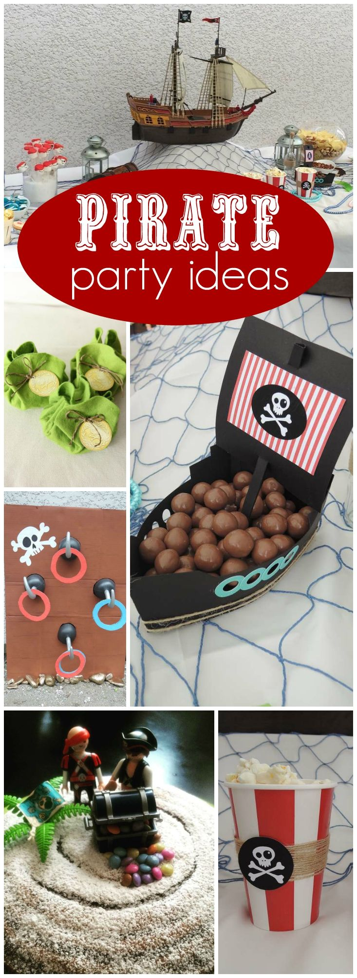Check out this fun pirate birthday party today! See more party ideas at CatchMyParty.com!