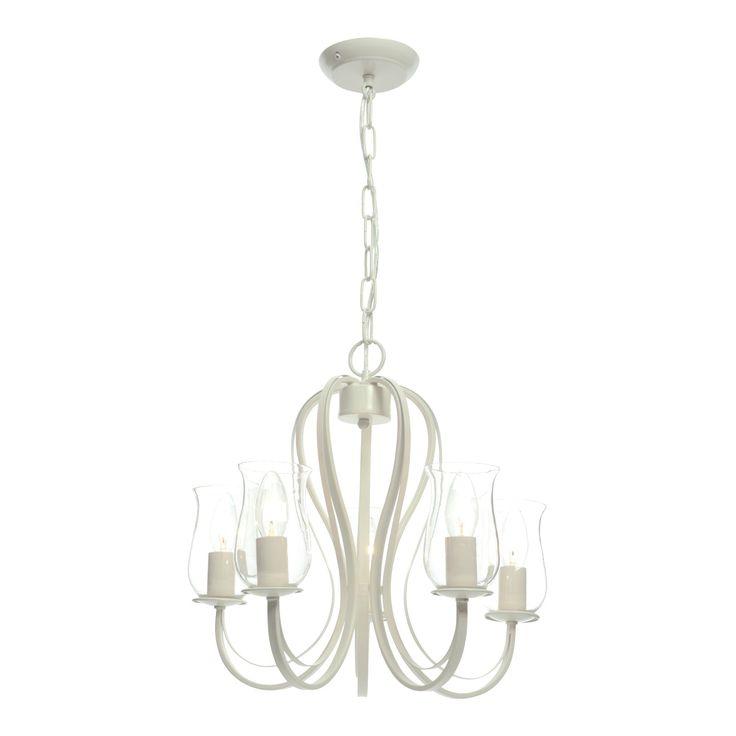Chateau Cream Porcelain Effect 5 Lamp Pendant Ceiling Light | Departments | DIY at B&Q