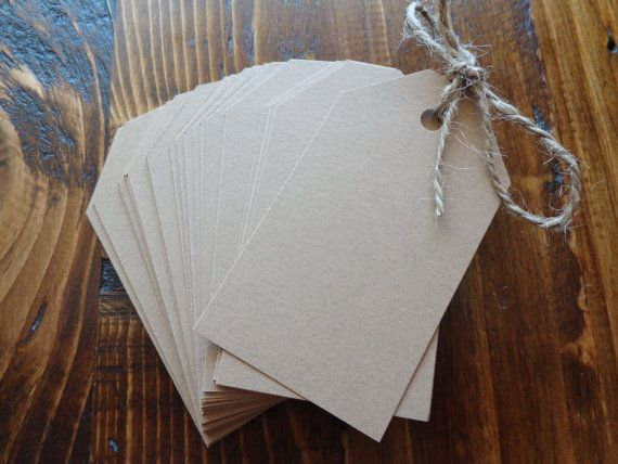 BOMBONIERE TAGS Brown tags & string by CreateTheDate on Etsy, $0.80