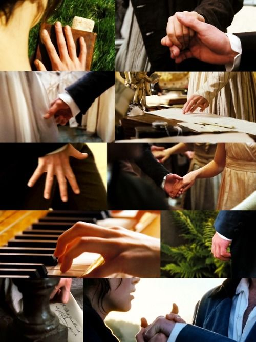 Hands can say so much. My favorite thing about Joe Wright is his attention to hands.