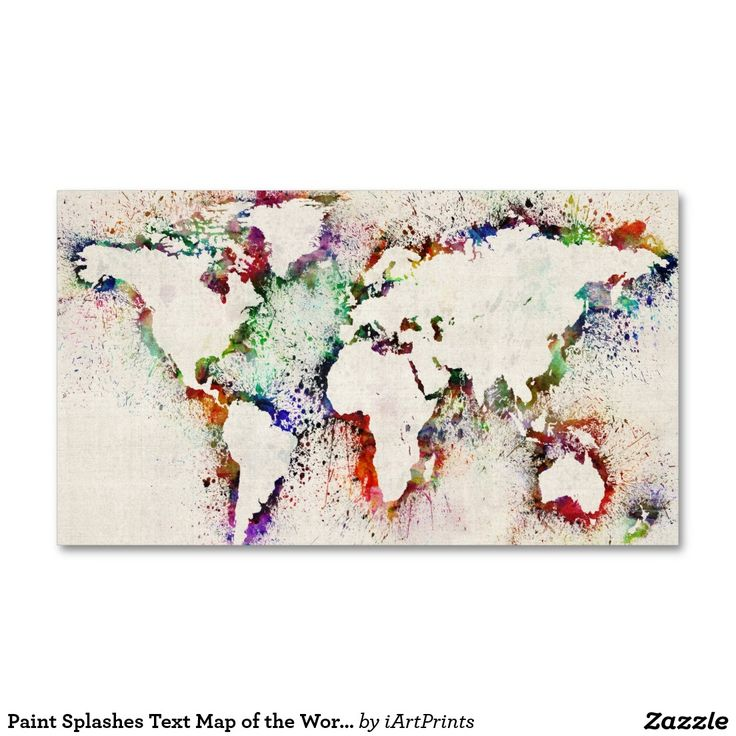 10 best visiting card samples images on pinterest business cards paint splashes text map of the world business card colourmoves Images