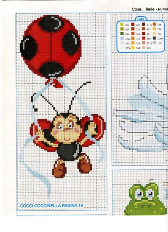 Lady bug cross stitch: