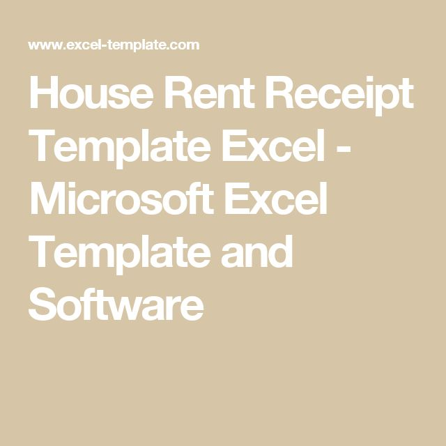 House Rent Receipt Template Excel - Microsoft Excel Template and - house for rent template