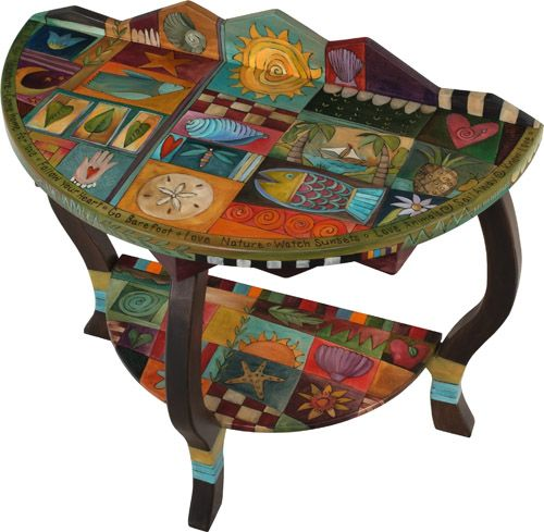 decoupage or paint DIY? (or buy from sticks for a pretty penny) Love, love, love the furniture on this site.