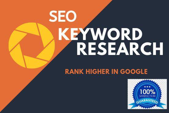 Tun Sie SEO Keyword-Recherche, Mitbewerber-Analyse von Ahmadhassan55