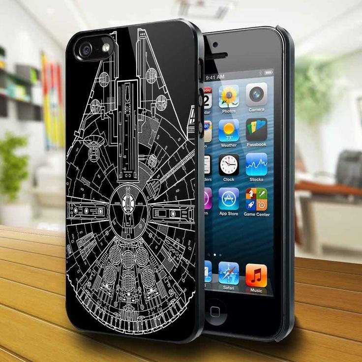 So COOL! Star Wars Millenium Falcon phone case via Etsy